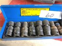 9-pc 1/2 drive universal socket sets, all swivel