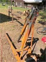 motorcycle frame jig, engine hoist - scrap