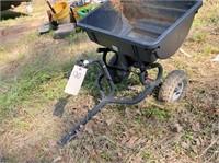 pull-behind lawn seeder