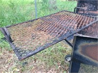 BBQ grill & fish cooker,  (hole in bottom of grill