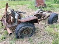 Jeep frame w/winch