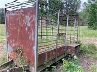 12' L x 4' W metal trailer