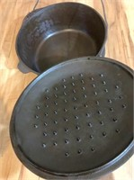 #10 cast iron Dutch oven