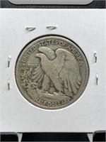 1929-D WALKING LIBERTY SILVER HALF DOLLAR