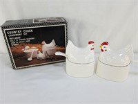 Country Chick Condiment Set