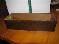 "Antique Sewing Machine Wood Drawer 15&1/2"" x 5"" x"