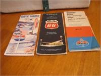 3 Vintage Road Maps Standard & Phillips 66