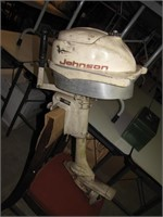 Vtg Johnson 3 Horse Outboard Motor Turns Over