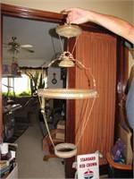 Antique B&H Adjustable Hanging Oil Lamp Hardware