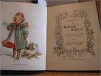 Antique 1906 Holiday Stories Book