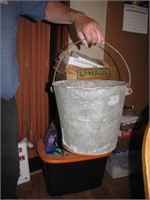 """Vintage Galvanized Milk Bucket 13"""" x 11&1/2"""""""