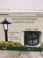 Solar Powered Garden Light -4 lights to a package