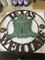 Texas Welcome Green Boots