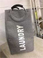 Gray Tweed Laundry Bag