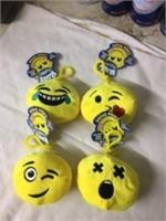 4 Emoji Backpack Rings w/Candy inside