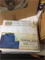 White 1800 Threadcount Queen Sheet Set