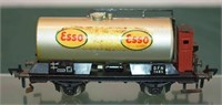 Esso Tank Car Silver Fleischmann HO