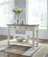 Ashley t637-4 Solid Wood 2 Drawer Sofa Table
