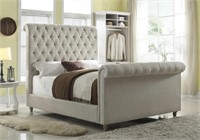 King - Art Van Large Designer Sleigh Bed