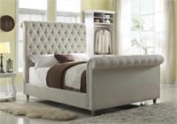 Queen - Art Van Large Designer Sleigh Bed
