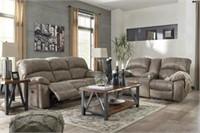 Ashley 51602 PWR REC Sofa & Love w/ADJ Head Rest