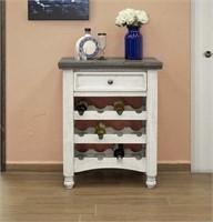 IFD Stone 12ct Wine Cabinet