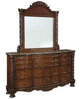 Ashley North Shore 5 Pc King Panel Bedroom Suite