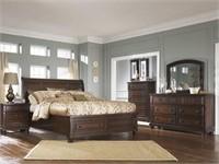 Ashley 697 Queen Porter 5 Pc Sleigh Bedroom Suite