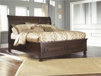 Ashley Porter 5 pc King Sleigh Bedroom Suite