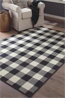 Ashley R402251 Large 8 x 10 Checkerboard Rug