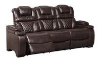 Ashley 754 PWR Dbl. Reclining Sofa w' Adj Headrest