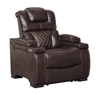 34Ashley 754 PWR Recliner w' Adj Headrest