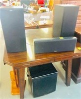 B & W  4 pcs Sub woofer & Speakers Surround Sound