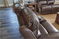 Ashley U846 Leather PWR REC Sofa & Love Seat
