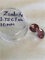 Loose Zandrite gemstones 3.75 ct each