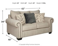 Ashley 97704 Zarina Designer Sofa & Love Seat