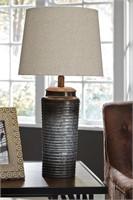 "Ashley L204064 Norbert Gray 25.5""  Designer Lamp"