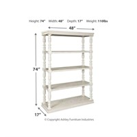 Ashley A4000241 Dannerville White Bookcase