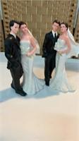 (2) Bride & Groom Centerpieces