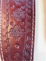 Forged in Fire Syle Knife & leather Sheath 14 in