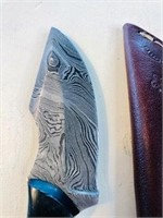 Forged in Fire Syle Knife & leather Sheath