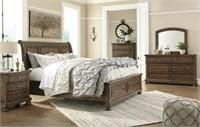 King Ashley B719 Flynnter 5 pc Sleigh Bedroom Set