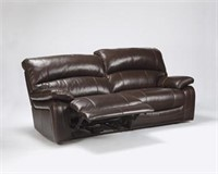 Ashley U982 LEATHER Reclining Sofa & Loveseat