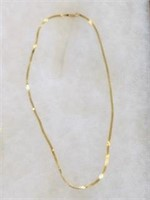 14k Gold Serpentine necklace 18 inch