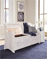 Ashley A3000199 Large Antique White Storage Bench