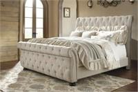 Ashley B643 King Size Large Designer Sleigh Bed