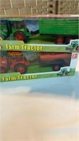 (2) Friction Farm Tractors