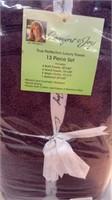 13 Pc Purple Luxury Towel Set