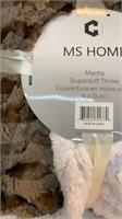 Striped MS HOME Manta Super-soft Throw