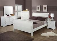 King Austin Furniture 5 pc White Sleigh Bedroom